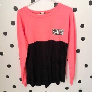 🔥30%OFF🔥Rue21 pink/black fresh shirt size L
